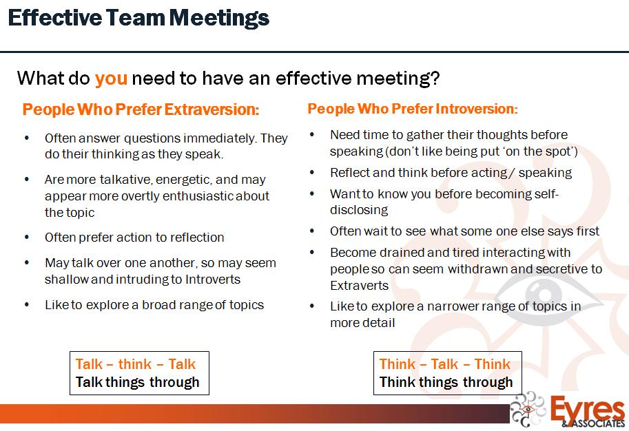 MBTI meetings 1