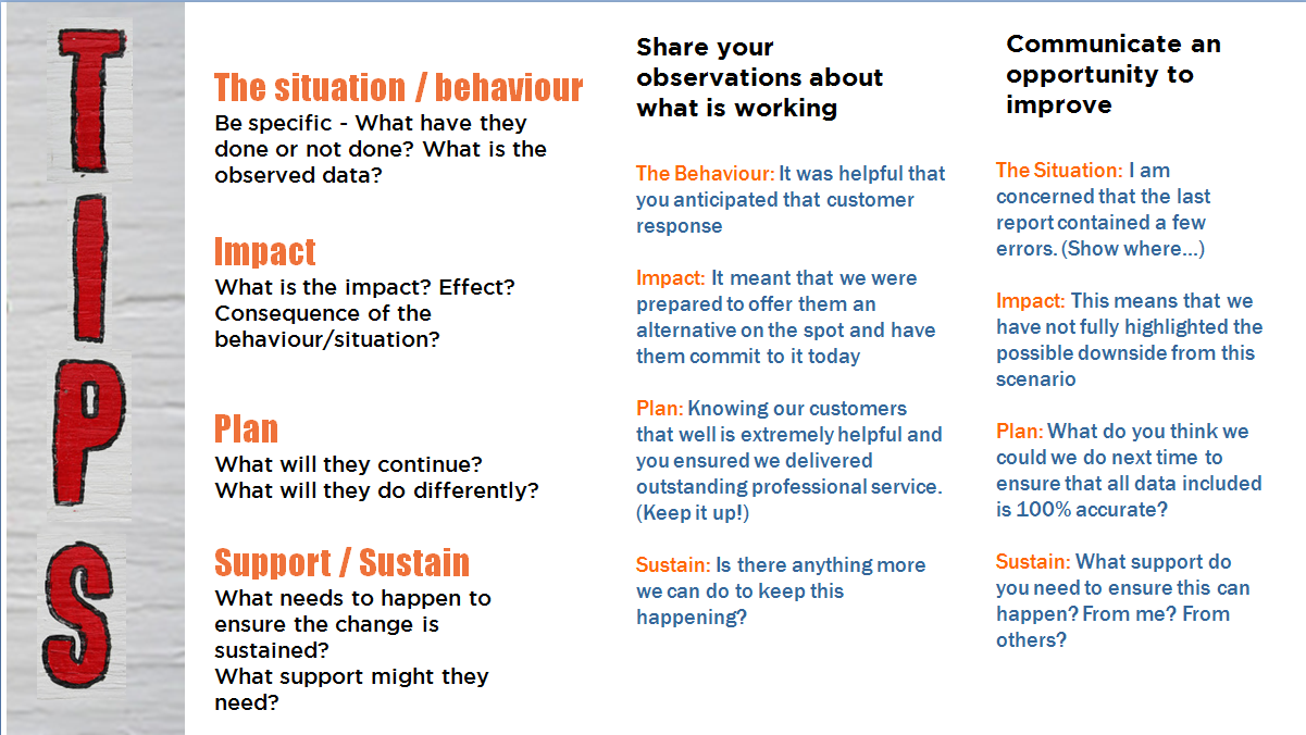 tips for feedback