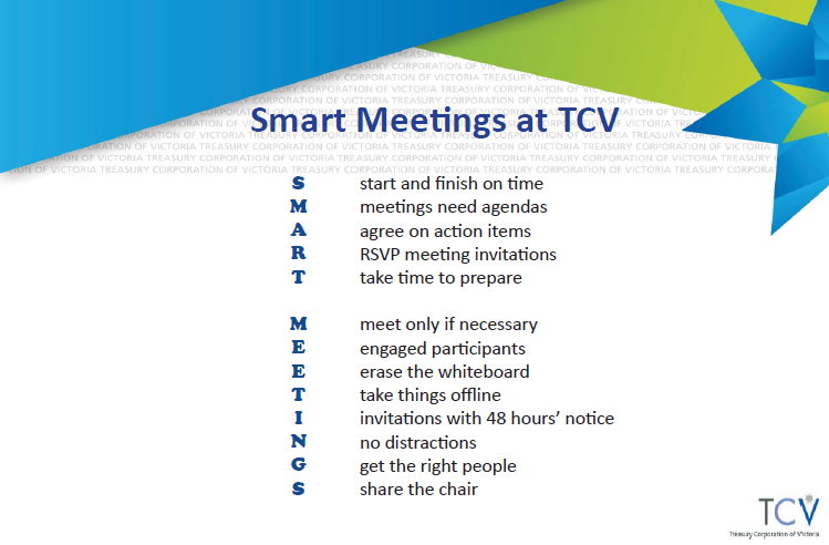 SMART meetings at TCV 1