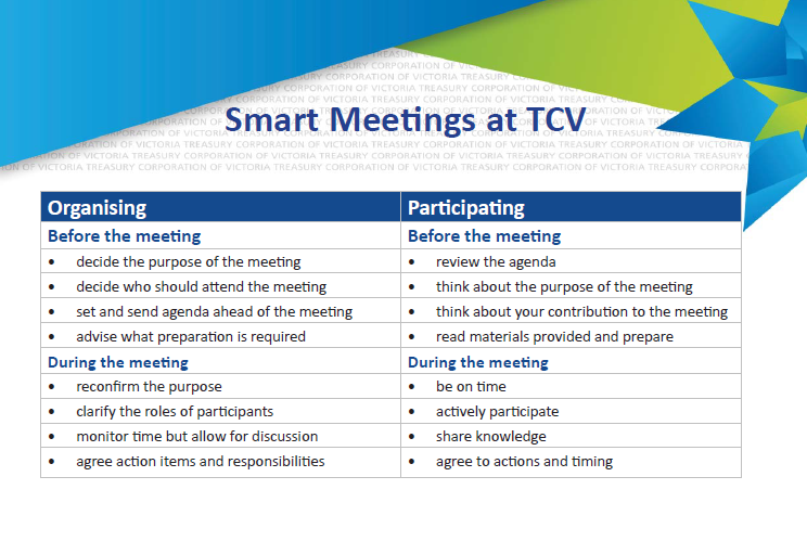 SMART meetings at TCV 2